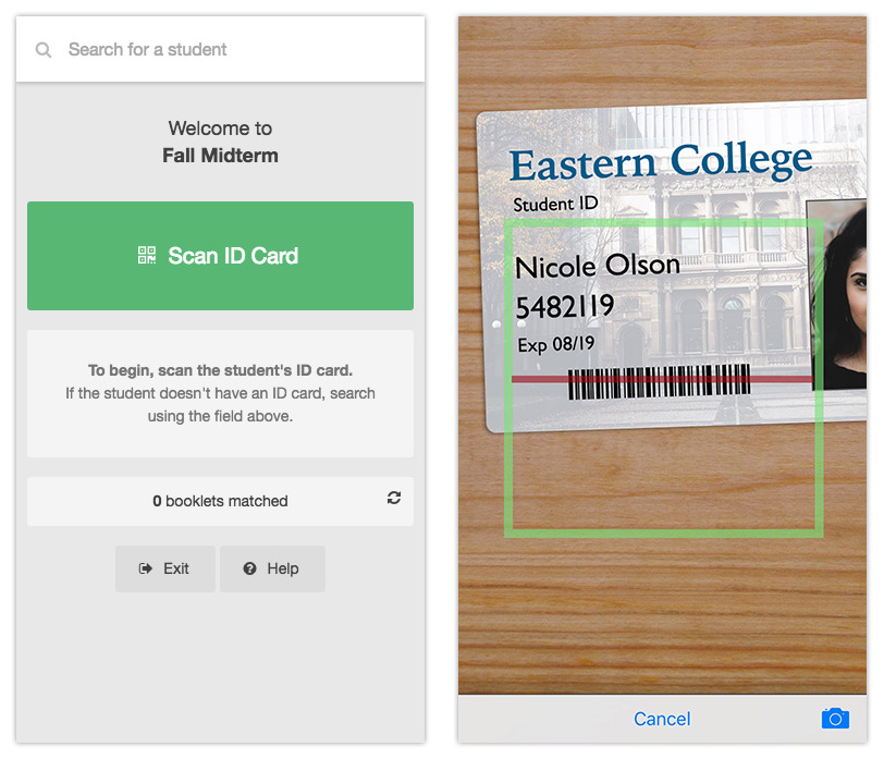 Using the Exam Matcher app with ID card integration | Crowdmark