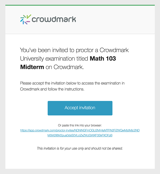 Proctoring a remote exam session | Crowdmark
