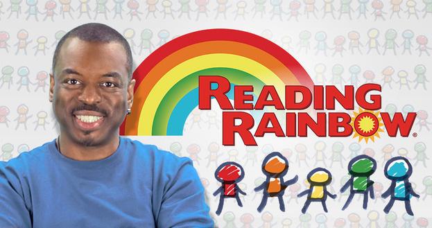 LeVar Burton and Reading Rainbow logo