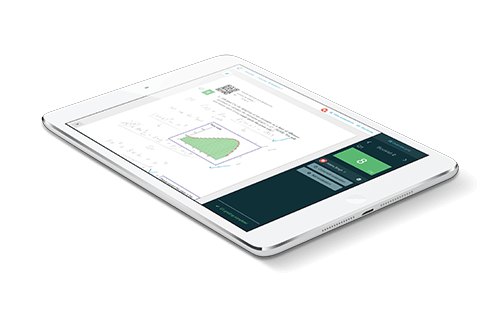 iPad with Crowdmark grading on the screen