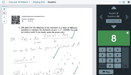 Grading on Crowdmark with comments and annotations